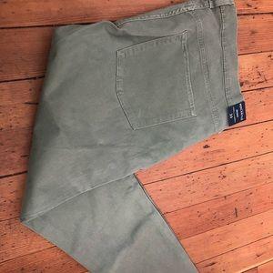 NWT J Crew Mercantile Men's 35 Olive Skinny Jeans
